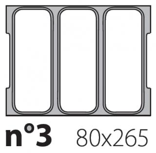 Матрица на запайщик лотков Oceania Mini 80×265
