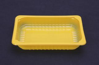 Лоток под запайку 210×148×35 мм желтый