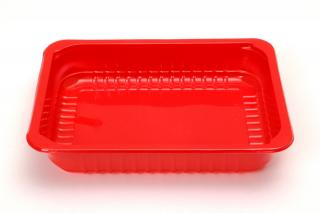 Лоток под запайку 227×178×40 мм красный