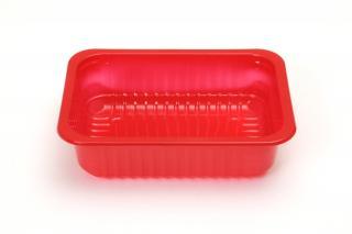 Лоток под запайку 187×137×50 мм красный