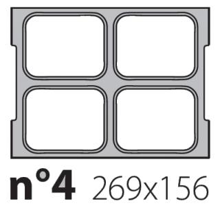 Матрица на запайщик лотков Olympus XL 269×156