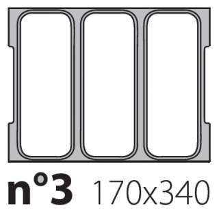 Матрица на запайщик лотков Olympus XL 170×340