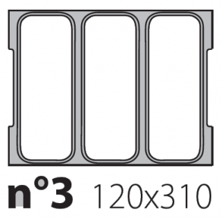 Матрица на запайщик лотков Olympus 120×310
