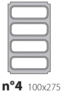 Матрица на запайщик лотков Polaris 100×275