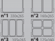 Схема вариантов размещения лотков Italian Pack Oceania Mini