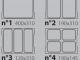 Схема вариантов размещения лотков Italian Pack Olympus