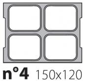 Матрица на запайщик лотков Oceania Mini 150×120