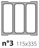 Матрица на запайщик лотков Poseidon Jolly 115×335