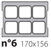 Матрица на запайщик лотков Olympus XL 170×156