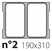 Матрица на запайщик лотков Olympus 190×310
